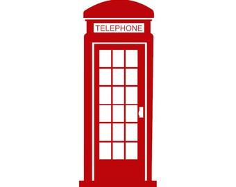 British Telephone Booth Wall Art