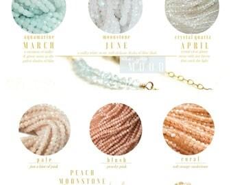 Custom Bracelet • Gemstone Bracelet • Birthstone Bracelet • Bridesmaids Bracelet • Gift Ideas for Friends, Sisters • Matching Bracelets •