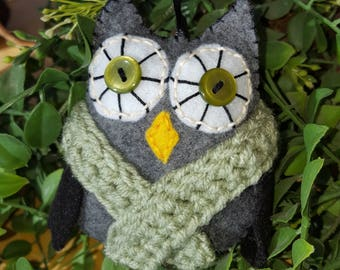 Felt Owl Ornament