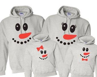 Family Christmas Sweatshirts Hoodie Hooded Custom Set Personalized Toddler Holiday Custom Sweater Gift