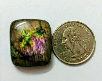 25.20 x 22.25mm,Octogen  Shape Labradorite Cobochon/purple Flash labradorite/voilet flash labradorite/wire wrap stone/Super Shiny/PendantCab