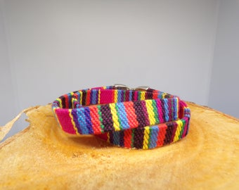 Multicolored flat cord bracelet