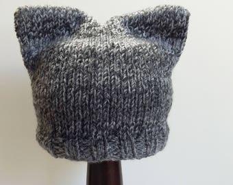 Gray Kitten Baby Hat