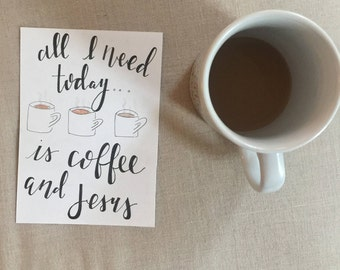Coffee watercolor painting