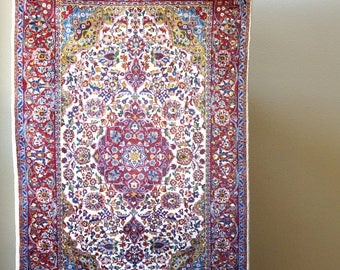 Vintage Handmade Indo Persian Rug 4x6 / Tabriz Isfahan Nain Kashan Lilihan Oriental Carpet