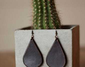 Sierra Plum Earrings | Leather Earrings | Birthday Gift | Anniversary | Gifts under 25 | Handmade | Gifts for Her