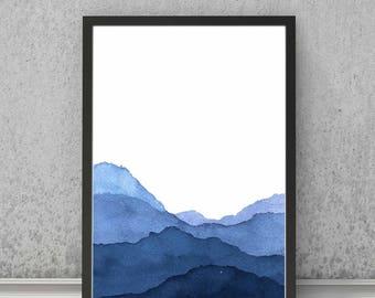SCANDINAVIAN INDIGO VALLEY print