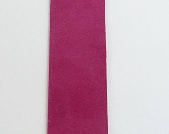 Pink velvet leather bookmark