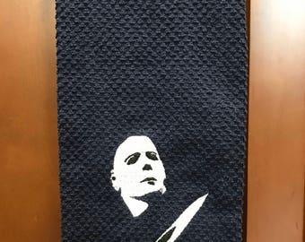 Michael Myers Kitchen Hand Towel
