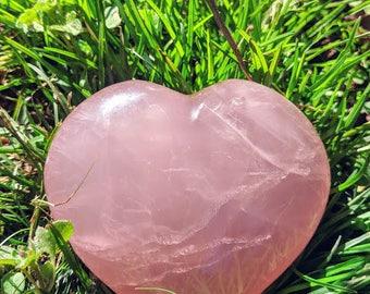 Healing Rose Quartz Hearts