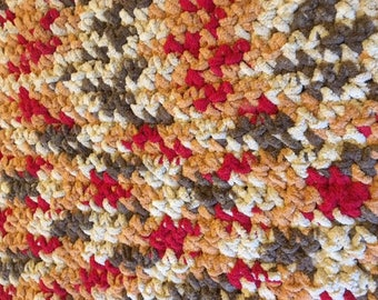 Autumn Colors Lap Afghan / Throw / Baby Blanket