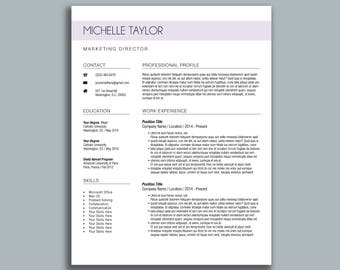 Career Objective Resume Examples Pdf Minimalist Resume  Etsy Resume Video Pdf with Preschool Director Resume Excel Modern Resume Template  Michelle  Cv Template  Cover Letter 10 Tips For Creating A Resume Excel
