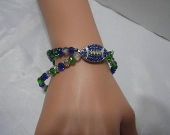Handmade Seahawk's Peridor Bracelet