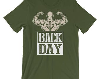 Back Day - Weightlifting, Bodybuilding, Gym, Workout Unisex T-shirt