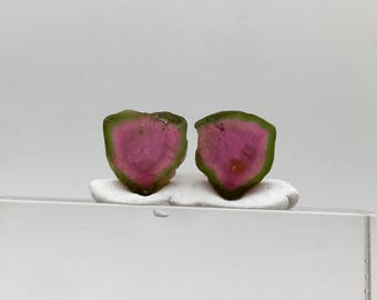 14.60 cts Top colour undamaged watermelon tourmaline slices