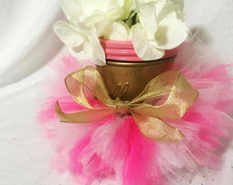 Tutu Mason Jars (baby Shower, Centerpieces, Girls Birthdays)