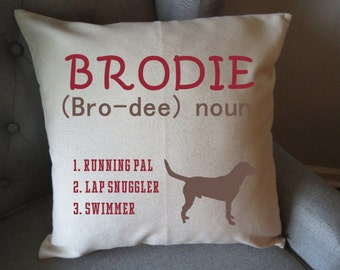 personalized dog lover indoor pillow cover only