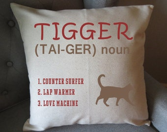personalized cat lover indoor pillow cover only