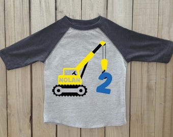 Crane birthday shirt, Construction birthday shirt, Construction party, construction birthday party, boys birthday shirt, boy birthday shirt