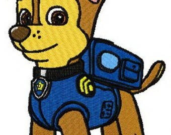 Paw patrol embroidery design Chase