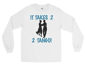 It Takes 2 2 Tango Spartees a distressed unisex jersey Long Sleeve T-Shirt
