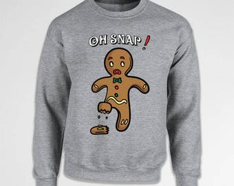 Funny Holiday Sweater Gingerbread Man Xmas Jumper Christmas Gifts Holiday Present Christmas Pullover Winter Clothing X-Mas Hoodie TEP-532