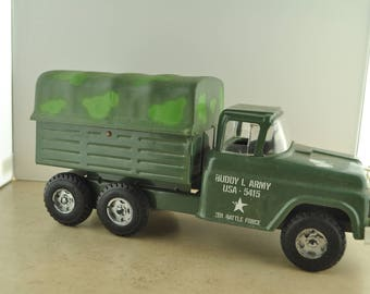 Buddy L Army USA - 5415 201 Battle Force Pressed Metal Toy Truck