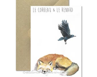 The Raven and Fox card