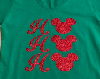 Ho-Ho-Ho Disney Christmas Shirt V-Neck
