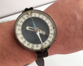 Vintage Wrist Compass   - Army Compass - Military Compass - Old Compass - Vintage Compass - Military Soldier Compass - Wrist compass-Compass