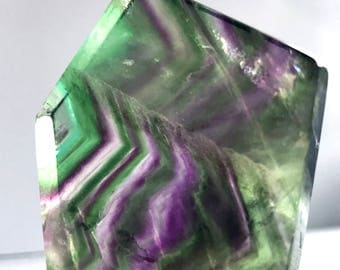 Fluorite Slice Crystal Healing for Protection and Grounding