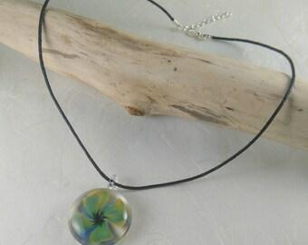 Lampwork Glass pendant necklace