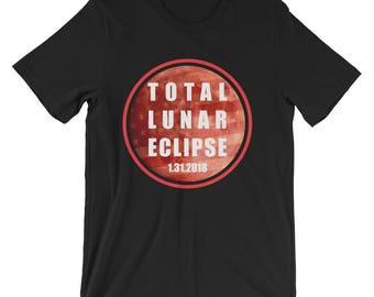 Total Lunar Eclipse Shirt Lunar Eclipse T-Shirt UNISEX Eclipse Hunter Astronomy Gift