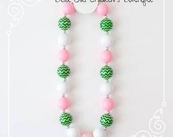 Bubblegum Necklace, Chunky Bubblegum Necklace, Cake Smash Necklace, Birthday Necklace, Children's Necklace