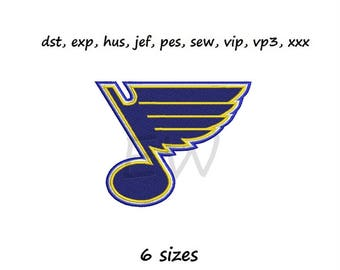 Embroidery design - SL Blues - instant DOWNLOAD digital file for embroidery machines