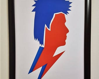 David Bowie Print - David Bowie Art - Valentine Gift - Music Print - A4 Print - Ziggy Stardust - Music Poster - Music Icons - Music Gift
