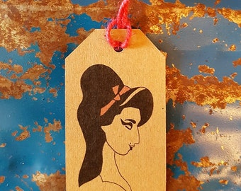 Gift Tags - Set of 3 Gift Tags - Amy Winehouse - Cool Gift Wrapping - Music Icon
