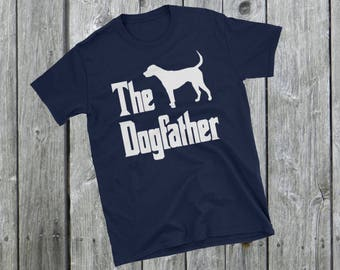 The Dogfather t-shirt, Foxhound silhouette, funny dog gift, The Godfather parody, dog lover shirt, dog gift, Short-Sleeve Unisex T-Shirt