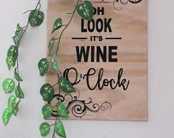 Sign it's wine time