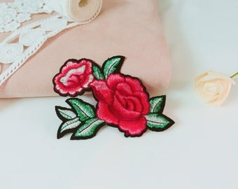 gorgeous rose patch/iron on patch/embroidered patch/high quality/for jacket/applique