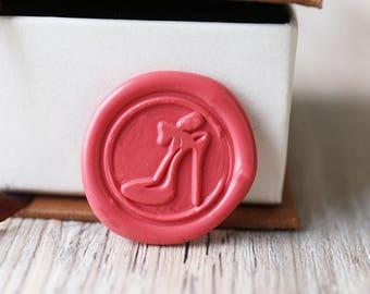 High heel wax seal stamp kit, plant seal, Christmas gift,party wax seal stamp set, wedding wax stamp