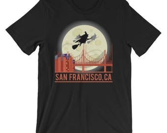 San Francisco Shirt - San Francisco TShirt - Holloween San Francisco Shirt - Witch T-Shirt - San Francisco Tee - California Unisex Shirt