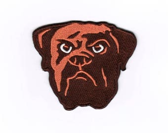 Bulldog Iron on Sew on Embroidered Badge Applique Motif Patch