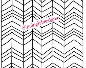 Herringbone Pattern Coloring Page
