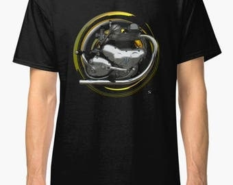 A.J.S. M30 600cc inspired classic retro  Motorcycle TShirt INISHED productions