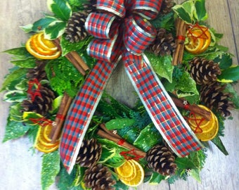 Traditional Chritmas Door Wreath
