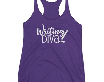 Writing Diva Women's Journalism Racerback Tank