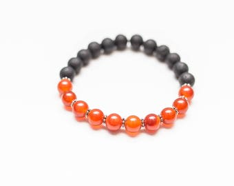 Creativity Boost Carnelian Sacral Chakra Essential Oil Diffuser Bracelet - Lava Bead 2nd Chakra