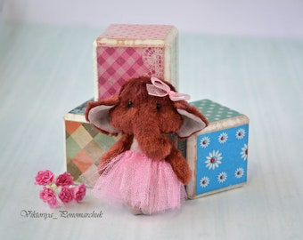 Brooches, Fabric brooches, Brooches textile, Doll brooch, Miniature doll, Textile doll, Stitched brooch, Clothing accessory, Doll elephant