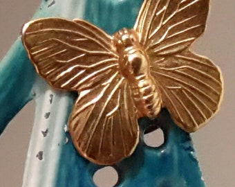 Tiny Gold Plated Butterfly Lapel Pin Scatter Pin Tie Tack Brooch